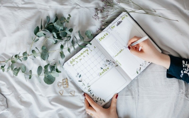 To Dos festhalten in Tagebuch