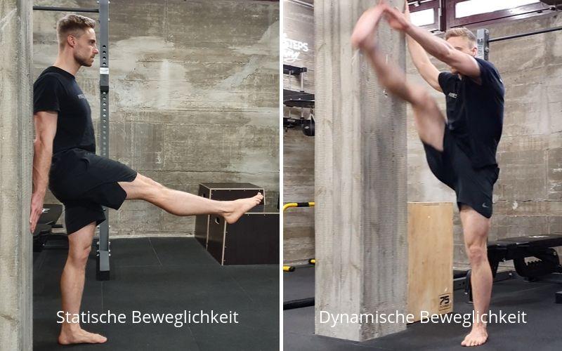 Beweglichkeit trainieren verbessern Definition Übungen - Statische Beweglichkeit vgl. dynamische Beweglichkeit