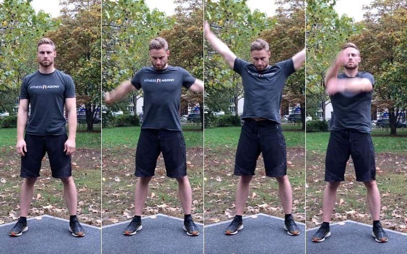 Beweglichkeit trainieren verbessern Definition Übungen - Arme kreisen