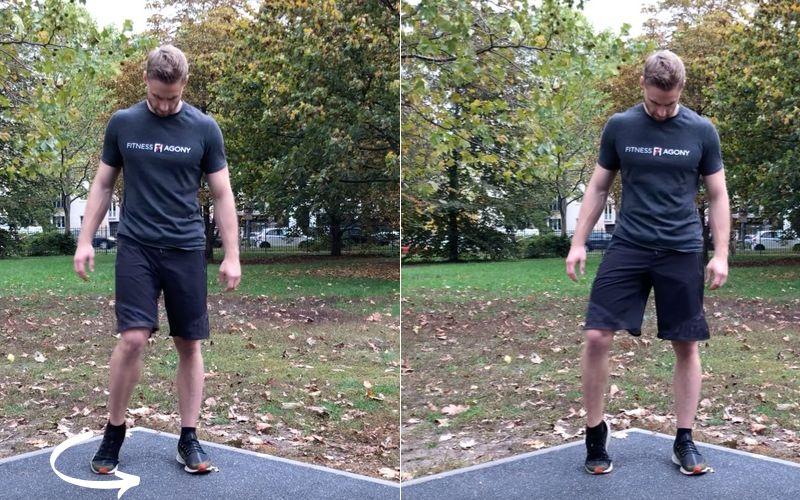 Beweglichkeit trainieren verbessern Definition Übungen - Füße kreisen