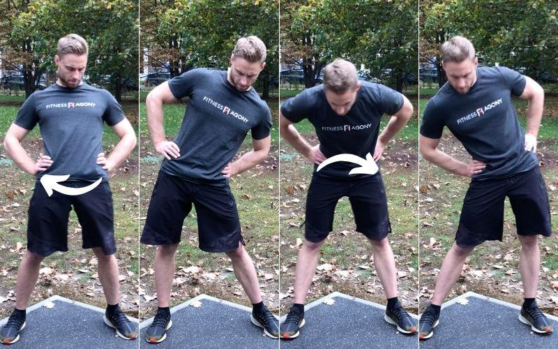 Beweglichkeit trainieren verbessern Definition Übungen - Hüfte kreisen