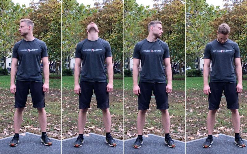 Beweglichkeit trainieren verbessern Definition Übungen - Kopf kreiesen