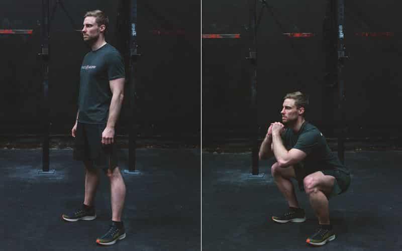 Bodyweight Übung Squats